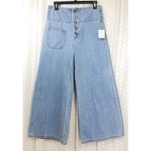 NWT Marc Jacobs High Waist Wide Leg Cropped Jeans